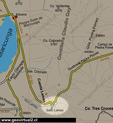Colorado Karte Fluss.Der Lama Fluss Und Pass Strasse In Den Anden Von Atacama