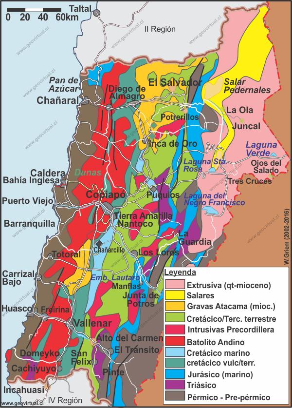 Carta de Atacama: Geología