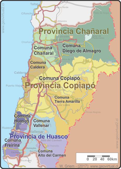 Provincias Y Comunas De Atacama